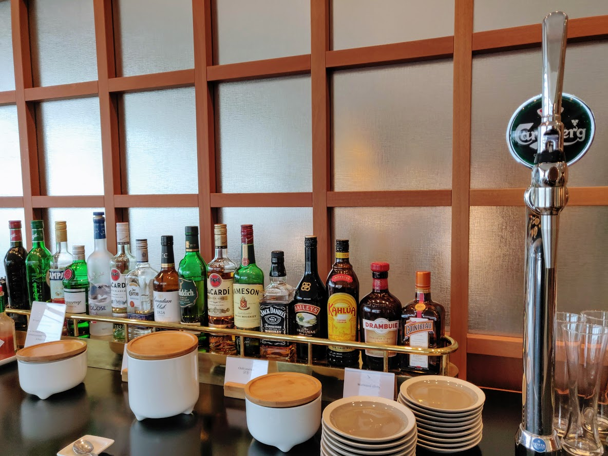 Cathay Pacific First Class Liquor and Beer