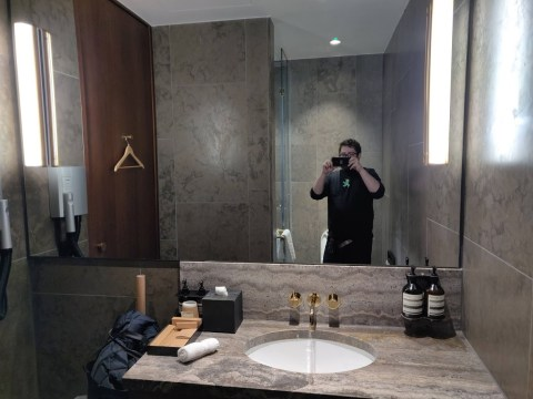 Cathay Pacific First Class Shower Room