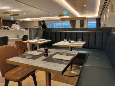 Qantas London Lounge Dining Area