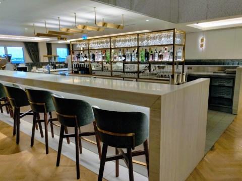 Qantas London Lounge Gin Bar