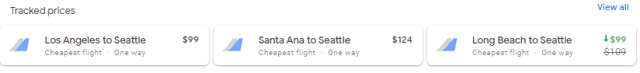 Google Flight Tracking