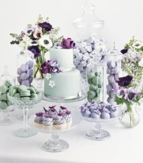 48 Delicate Mint And Lavender Purple Wedding Ideas