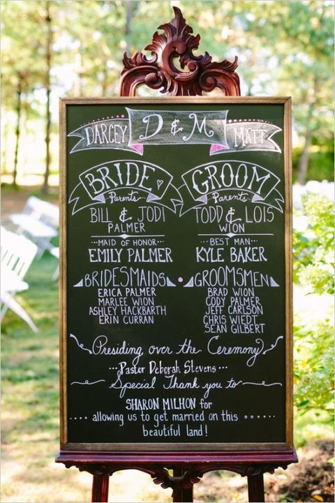60 Cool Chalkboard Wedding Ideas | HappyWedd.com