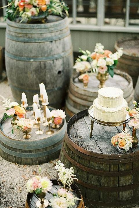 How To Use Barrels At Your Wedding 53 Ideas