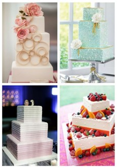 53 Square Wedding Cakes That Wow   HappyWedd com 53 Square Wedding Cakes That Wow