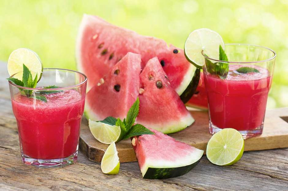 Cooling Foods to Beat the Summer Heat: Cucumber Watermelon Lime Juice Mint Cooler
