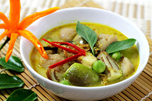 Thai Green Curry with Veggies and Cod