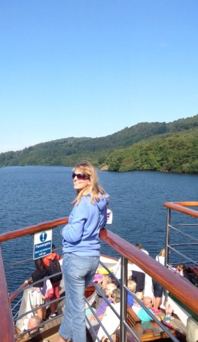 lady on boat in windermere