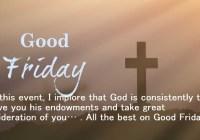 Good Friday 2020 message