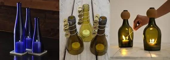 Chandeliers de bouteilles