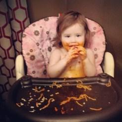 This kid LOVES Spaghetti!