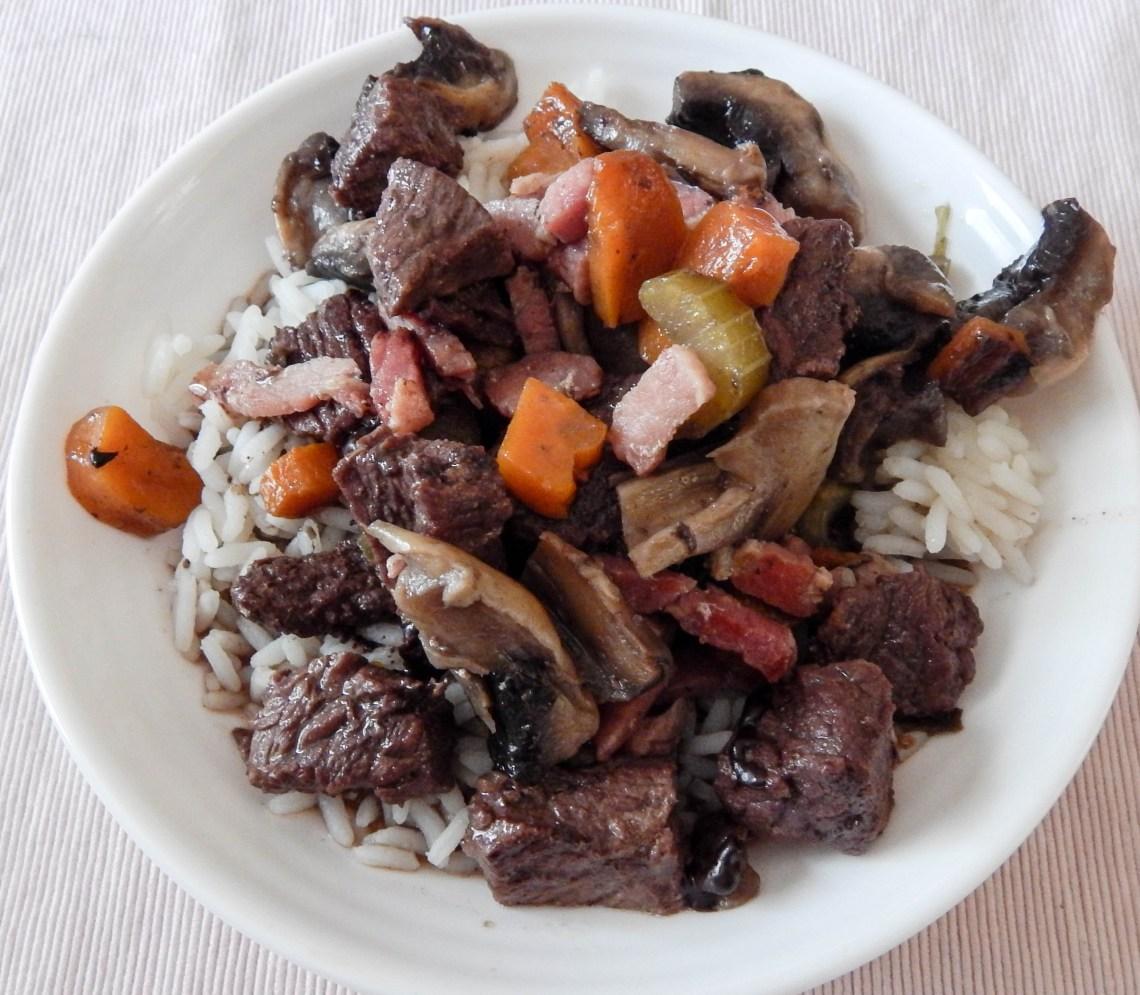 DSCN3152 - Recette # 5 : Le bœuf bourguignon, la recette facile
