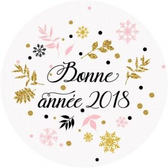 sticker bonne annee 2018 - Bonne année 2018, mes résolutions / Objectifs de la nouvelle année