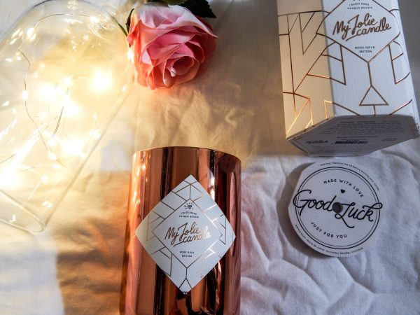 my jolie candle rose gold edition