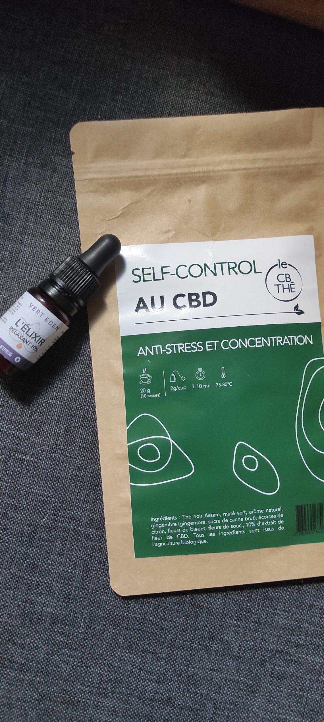 captain CBD elixir relaxant thé anti-stress concentration