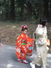 Mother and daughter in traditional Japanese attire
