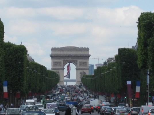 Arc de Triomphe and Champs-Élysées