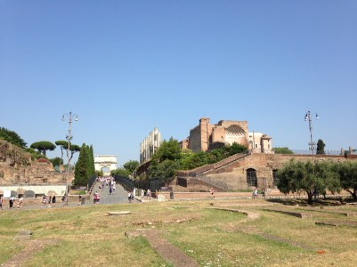Roman Courtyard at Roman Forum