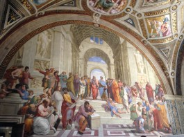 The School of Athens by Raphael in Vatican Museum