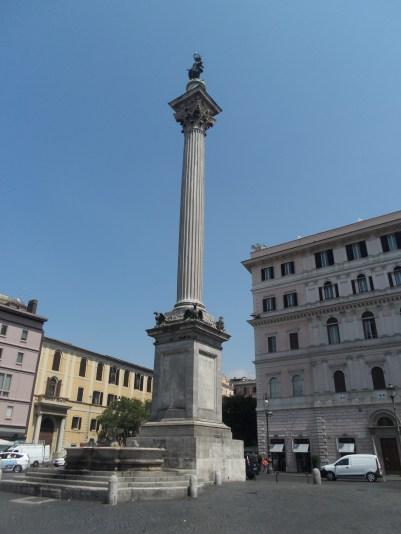 Column in front of Basilica di Santa Maria Maggiore