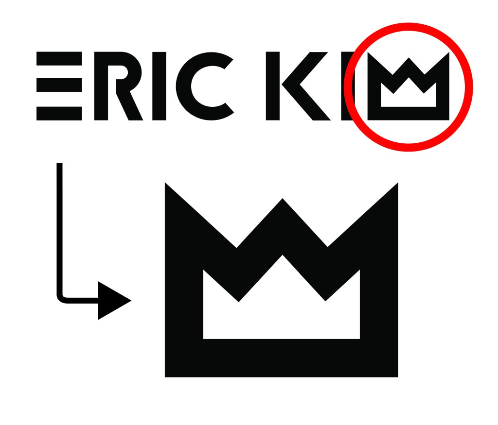 Eric Kim logo design:  making of process