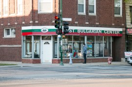The day before the official ceremony of unveiling Honorary Aleko Konstantinov Way at Irving Park and Hamlin in front of the First Bulgarian Center - view from Hamlin Ave. © Ivan Haralanov – FotoDetail 2017