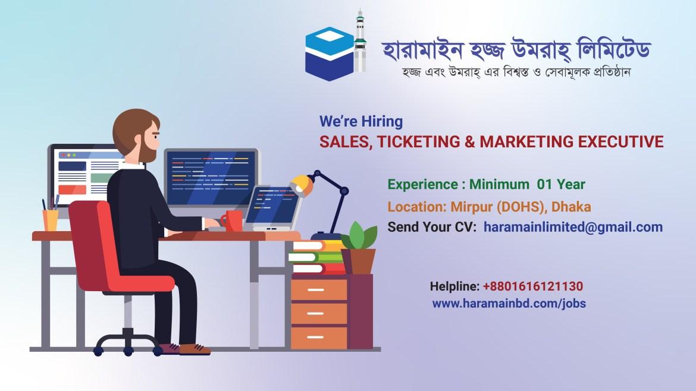 Sales, Ticketing & Marketing Executive