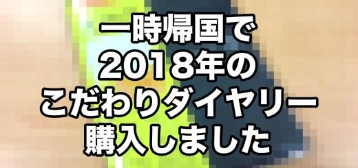 2018年ダイヤリー