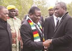 President Emmerson Mnangagwa with Kuda Tagwirei (right): File image