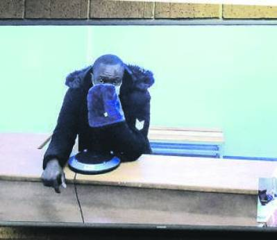 Murder case of Tshegofatso court proceedings were done through video link and number of people were chanting and singing outside the Roodepoort court. Photo by Trevor Kunene Photo by