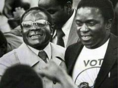 the late Robert Mugabe and President Mnangagwa