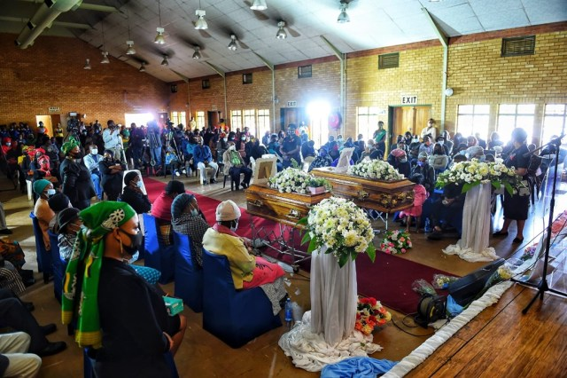Two Orange Farm children, Mpho Makondo Siphiwe Mgcina were laid to rest. Photo by Christopher Moagi .