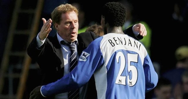 Harry Redknapp and Benjani at Portsmouth