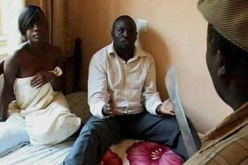 Prophet caught slicing gold panner's wife... privates cut off