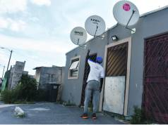 DStv dishes have become a target for drug addicts in the kasi. Photos by Buziwe Nocuze.
