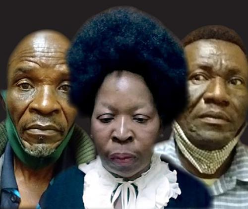 The faces of evil. From left to righ are ritual murderers Solomon Mqengeni Mahumani (67), Christinah Mhlongo (56) and Amos Mafemani Chuma (51). Photo's: NPA Limpopo.