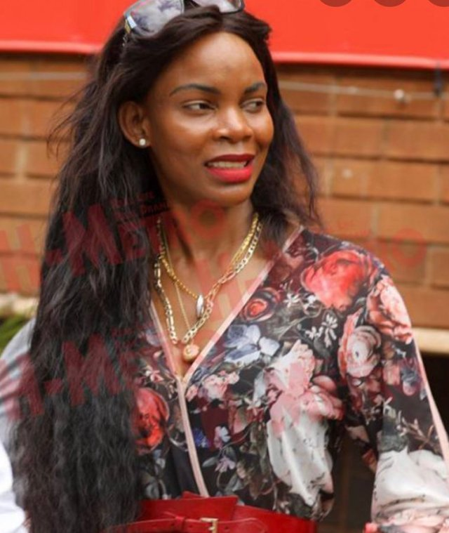 Hours after a warrant of arrest was issued against Vice-President Constantine Chiwenga's ex-wife,  Marry Mubaiwa, who failed to attend court this morning, an ambulance believed to be carrying her was seen arriving at the Harare Magistrates' Court.