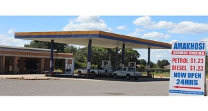 One of the service stations that was robbed