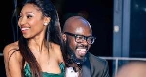 Enhle Mbali and Dj Black Coffee during happier times