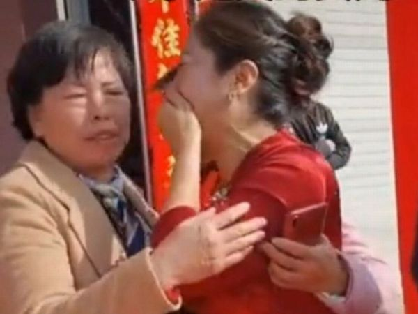 She described the moment of meeting her biological mother as