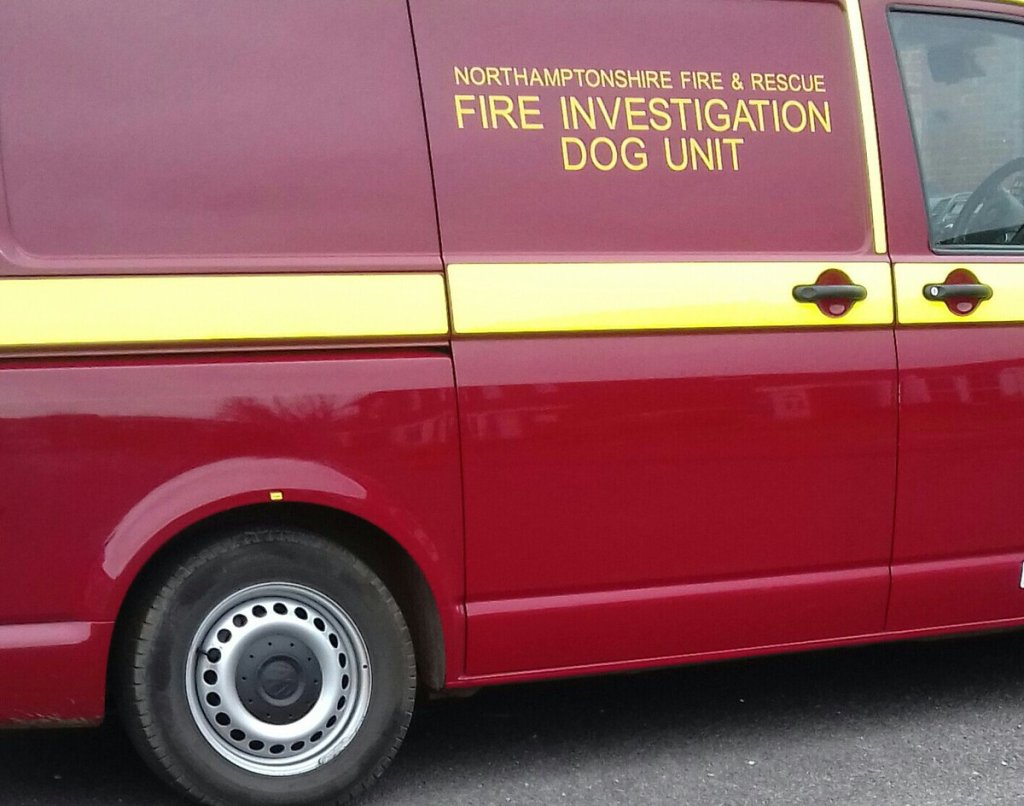 fire dog van