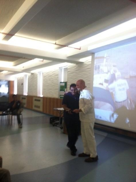 Joshua receiving the Most Creative Award