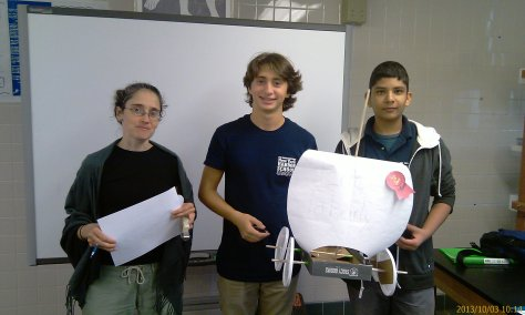 Our second place racers. Well done Zain and Pierre!