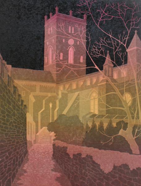 St.Davids Cathedral at Night