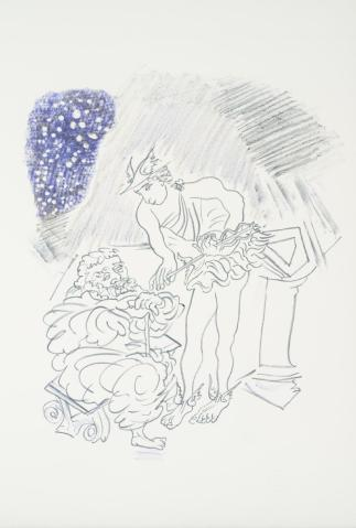 From a Conversation between Hermes and Menipeus on a Field of Snow 1971 by Ceri Richards 1903-1971