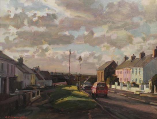 Alexander Charles Jones 'Trefin at dusk'