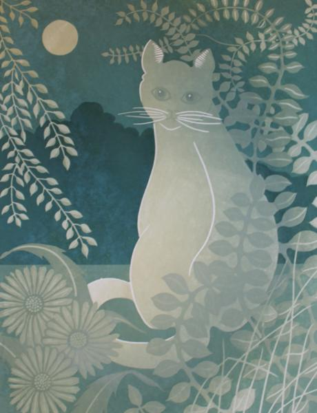 The-Moonlit cat