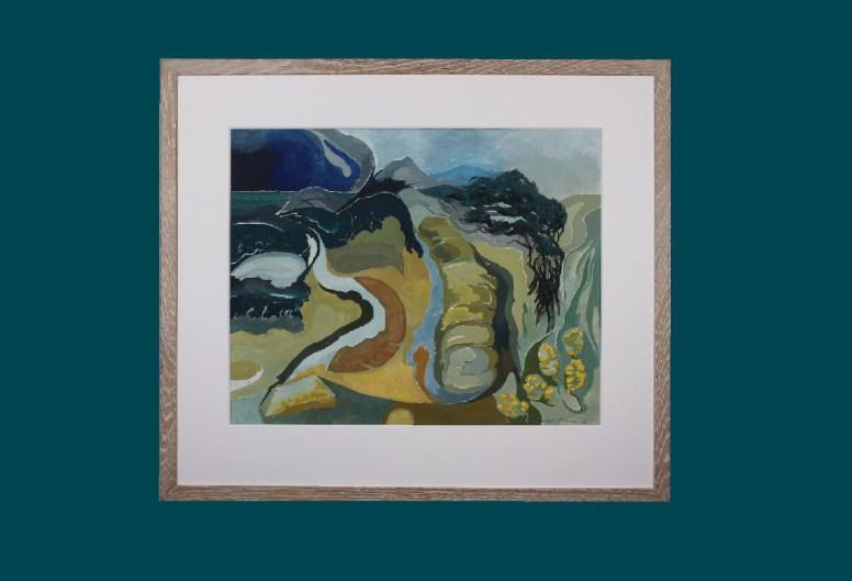 Windy Landscape Framed