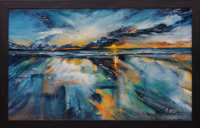 Jo Frost - Sunset and reflections - framed