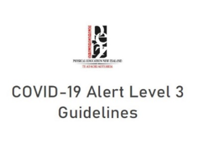 Guidelines for schools from PENZ for Level 3